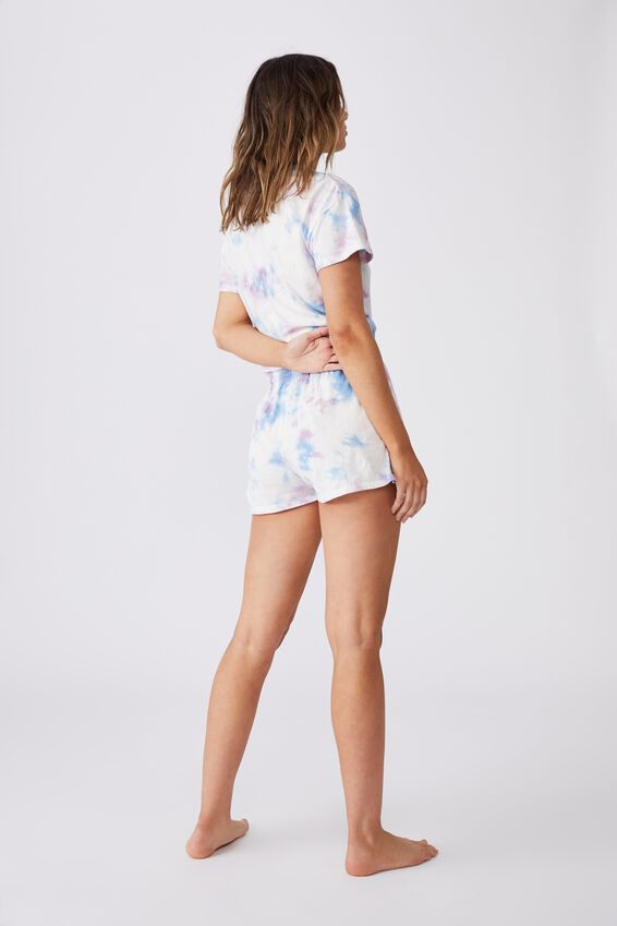 Jersey Sleep Short, SOFT LILAC TIE-DYE