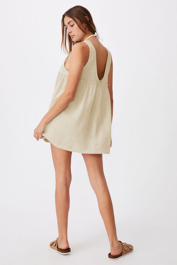 Drop Armhole Beach Dress, NATURAL