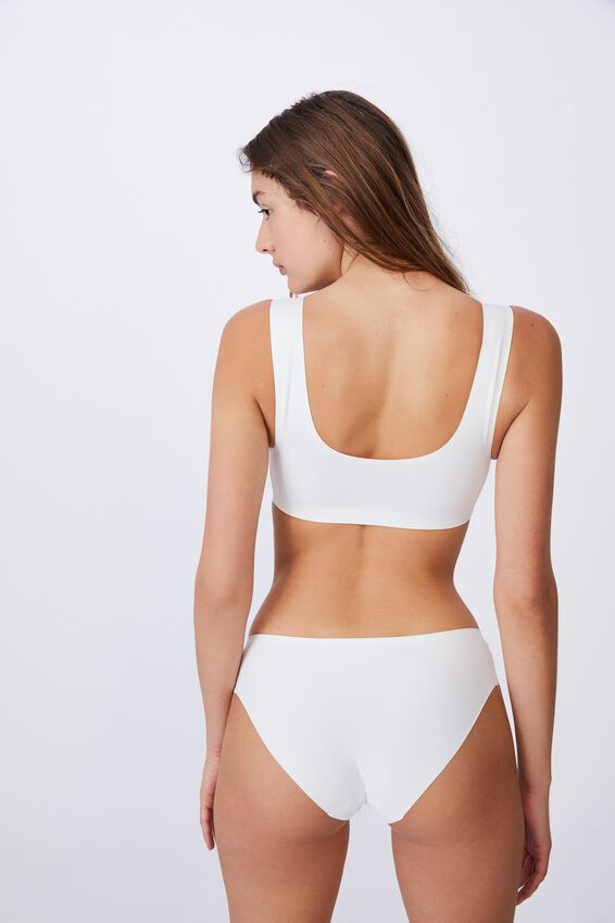 Everyday Bonded Crop, CREAM