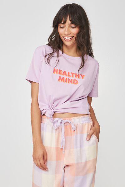 Boyfriend Tshirt, PASTEL LAVENDER/HEALTHY MIND