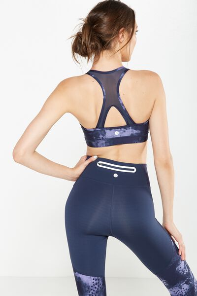 Luxe Printed Mesh Back Crop, SHADOW TEXTURE