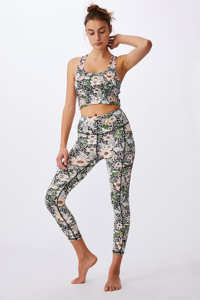 Love You A Latte 7/8 Active Tight, TROPICAL LEOPARD