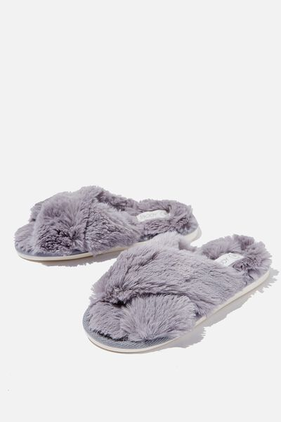 Arlie Crossover Slipper, GREY