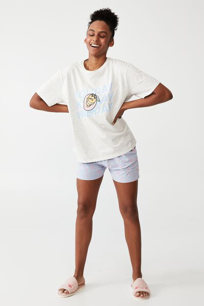 License Jersey Relaxed T-Shirt And Short Set, LCN KAKAO/POOL SET
