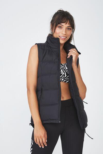 Puffer Vest, BLACK