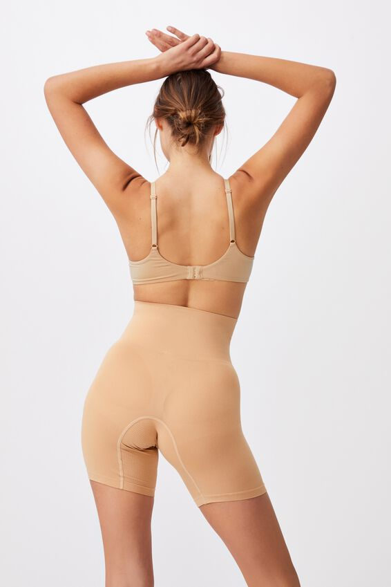 Smoother And Shaper High Waist Short, PECAN FUDGE