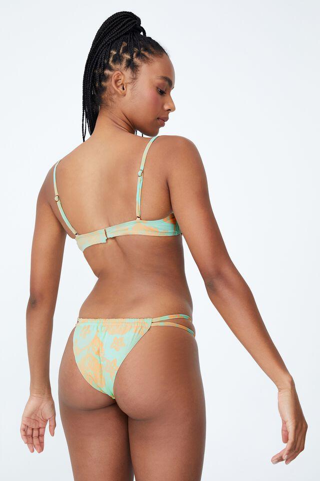 Half Wire Bra Bikini Top, HIBISCUS VINE MINT CHIP