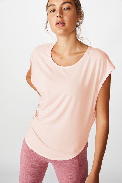 Active Scoop Hem Tshirt, PINK SHERBET