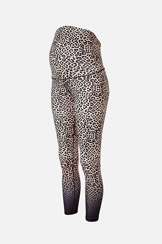 Maternity Love You A Latte 7/8 Tight, ANIMAL OMBRE