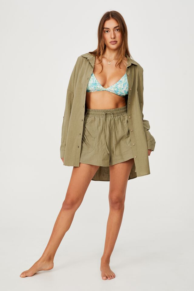 Swing Beach Shirt, WARM KHAKI