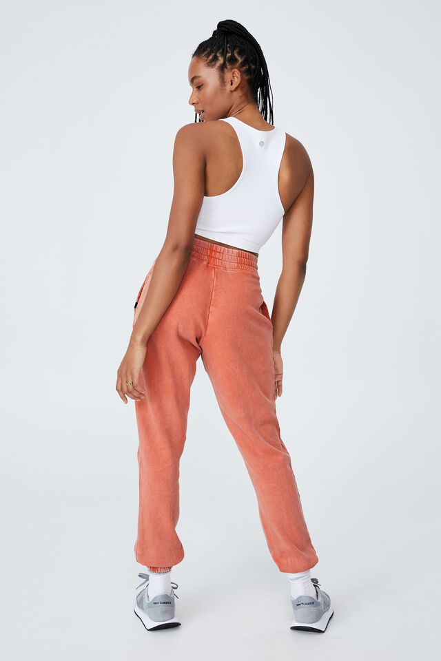 Lifestyle Gym Track Pant, CLEMENTINE WASHED