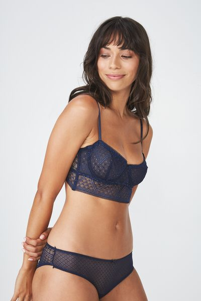 Grace Longline Underwire Bra, MIDNIGHT