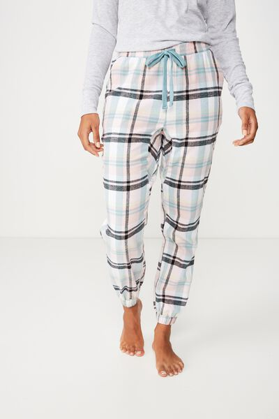 Dropped Flannel Pant, LIMELIGHT CHECK