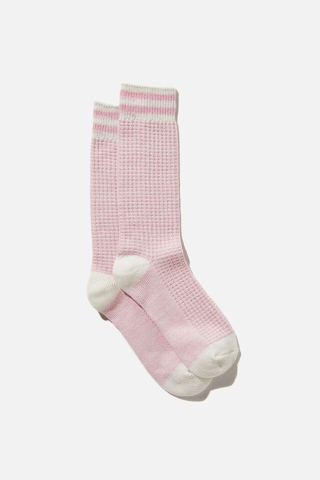 Knit Crew Sock, PRIMROSE MARLE
