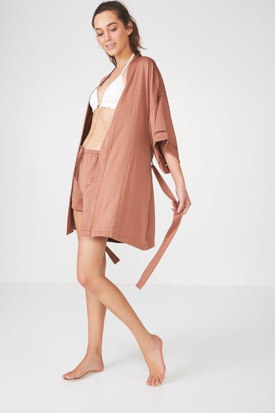 Textured Kimono Gown, HAZEL