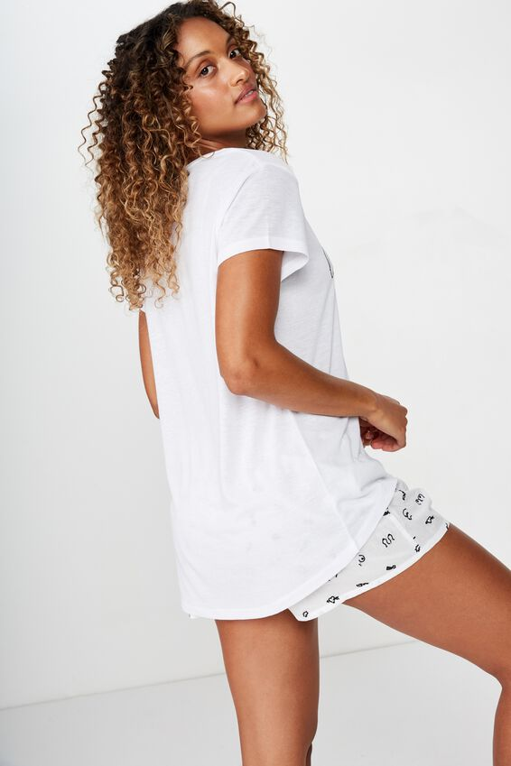 Dreamy Sleep T-Shirt, WHITE/ LOOK AFTER YOUR GIRLS