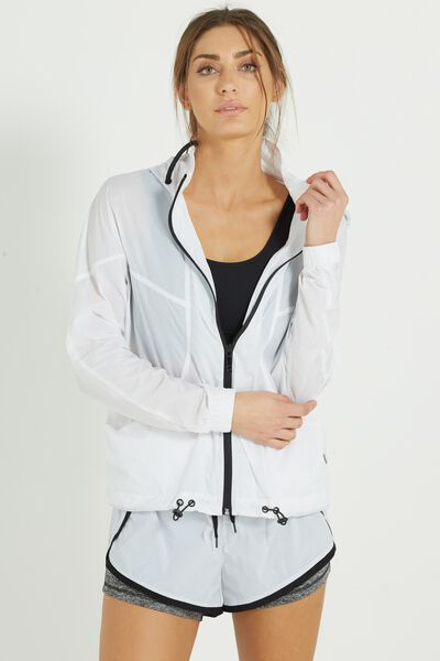 Transparent Lightweight Jacket, WHITE TRANSPARENT