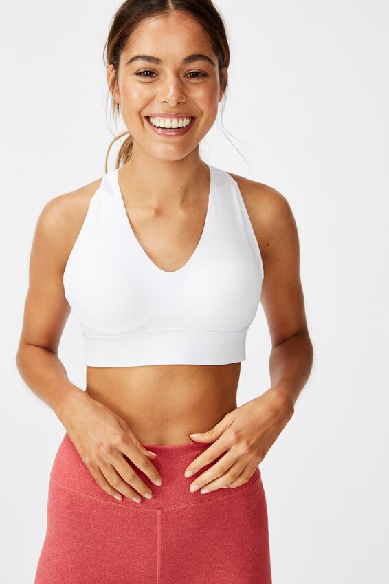 Workout Training Crop, WHITE