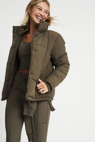 The Recycled Mother Puffer Jacket, KHAKI