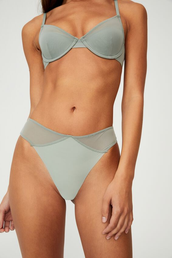 Everyday Mesh High Cut Brasiliano Brief, DESERT SAGE