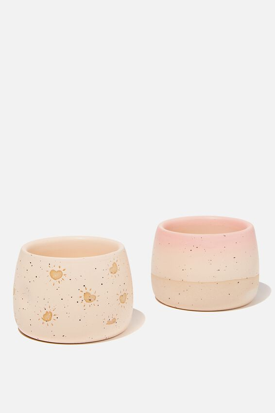 Tea For Two Mug, PRETTY PINK/ALMOND BUTTER