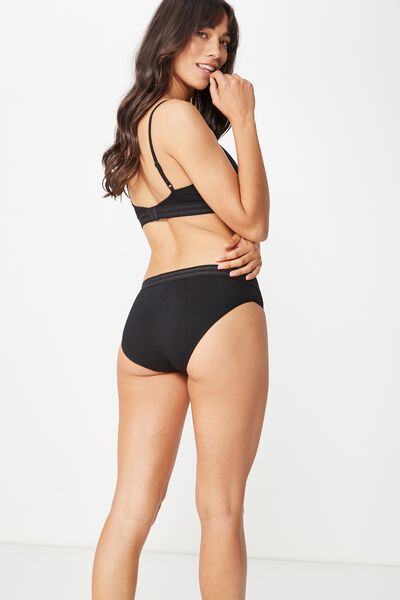 Sporty Femme Bikini Brief, BLACK
