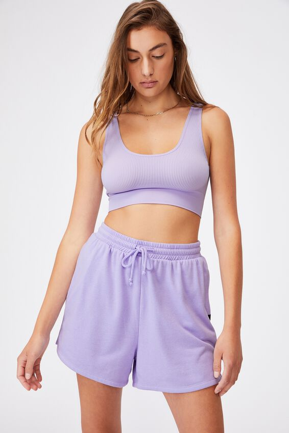 Seamless Reversible Crop, CHALKY LAVENDER
