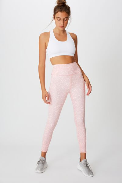 Lifestyle 7/8 Tight, PEONY PINK SPOTIMAL