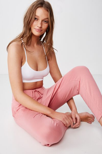 Sleep Recovery Drop Crotch Pant, PINK GLOW