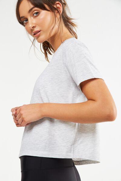 Boxy Tshirt, GREY MARLE