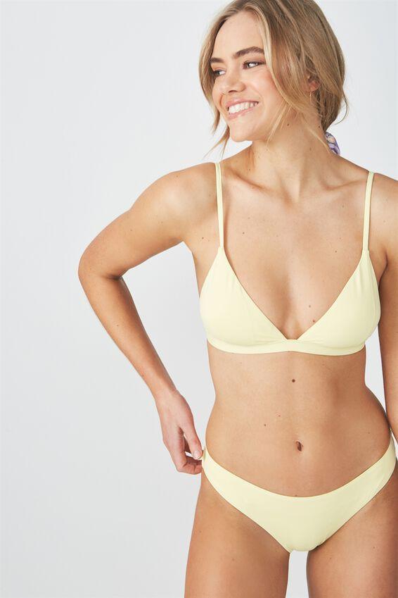 Fixed Triangle Bikini Top, LEMON