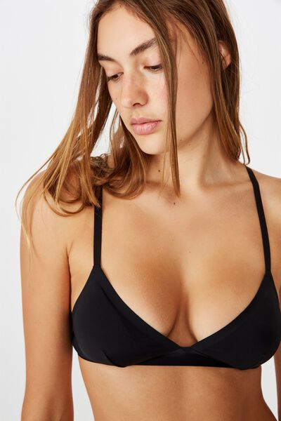 Everyday Bonded Bralette, BLACK