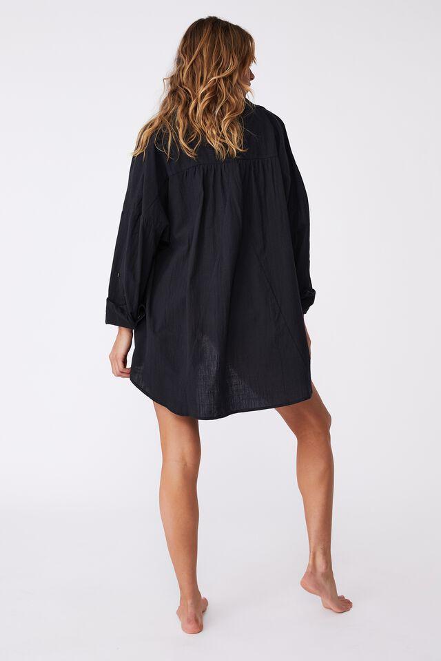 Swing Beach Shirt, WASHED BLACK