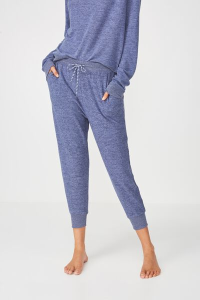 Super Soft Cropped Slim Fit Pant, FROSTED BLUE MARLE