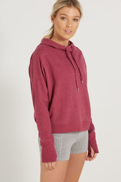 Bliss Longsleeve Sweat Top, WILD ROSE MARLE
