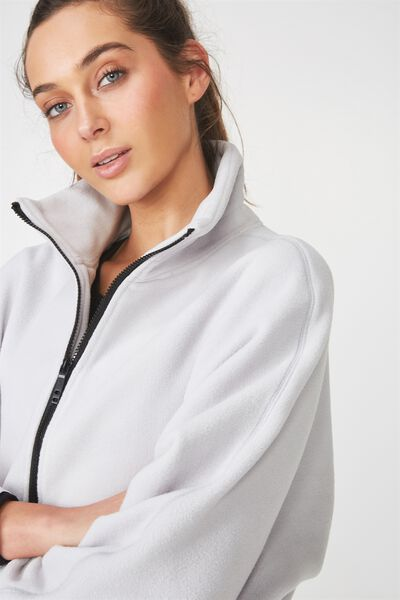 Batwing Polar Fleece Jacket, GLACIER GREY