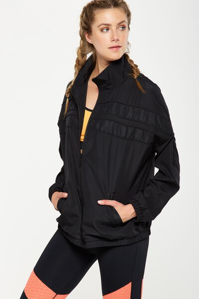 Laser Spliced Jacket, BLACK/SPLICED