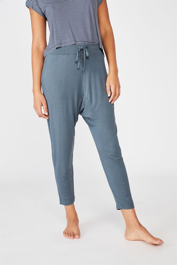 Sleep Recovery Drop Crotch Pant, IRON