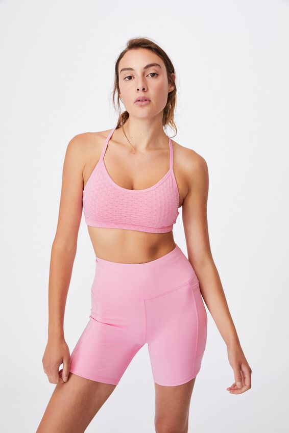 Workout Yoga Crop, STRAWBERRY MILKSHAKE TEXTURE