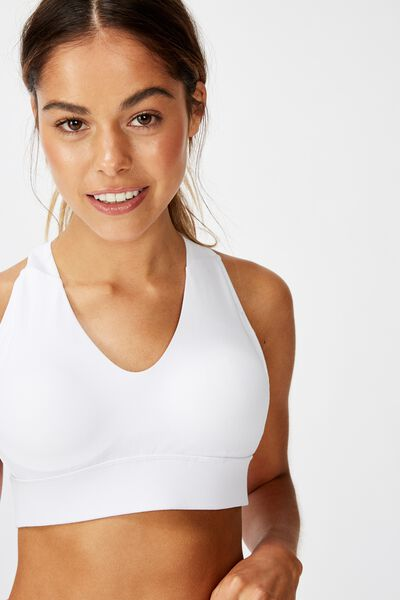 Workout Training Crop, WHITE