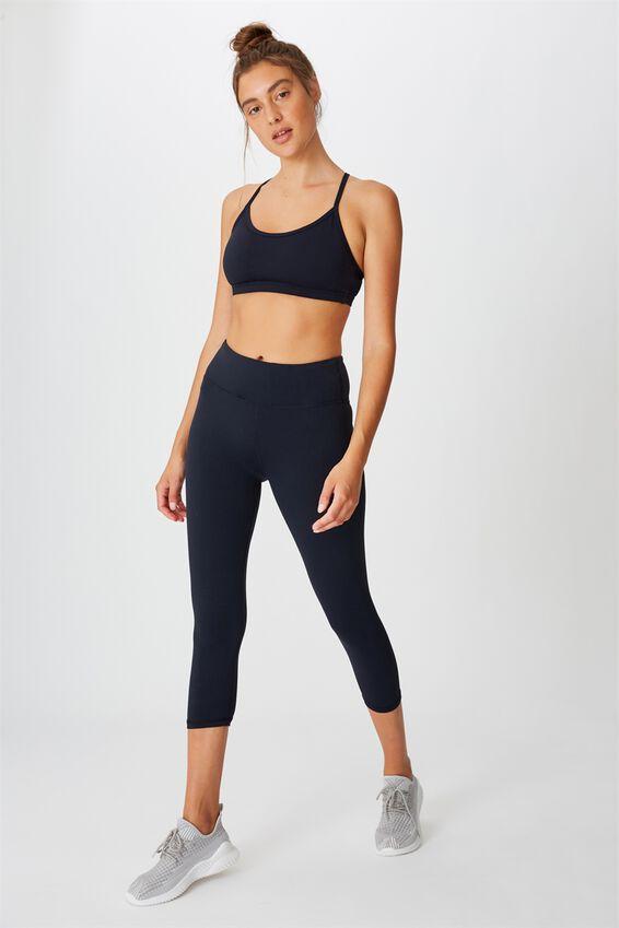 Workout Yoga Crop Bra, NAVY