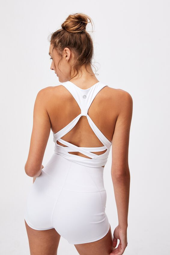Lifestyle Loop Back Vestlette, WHITE