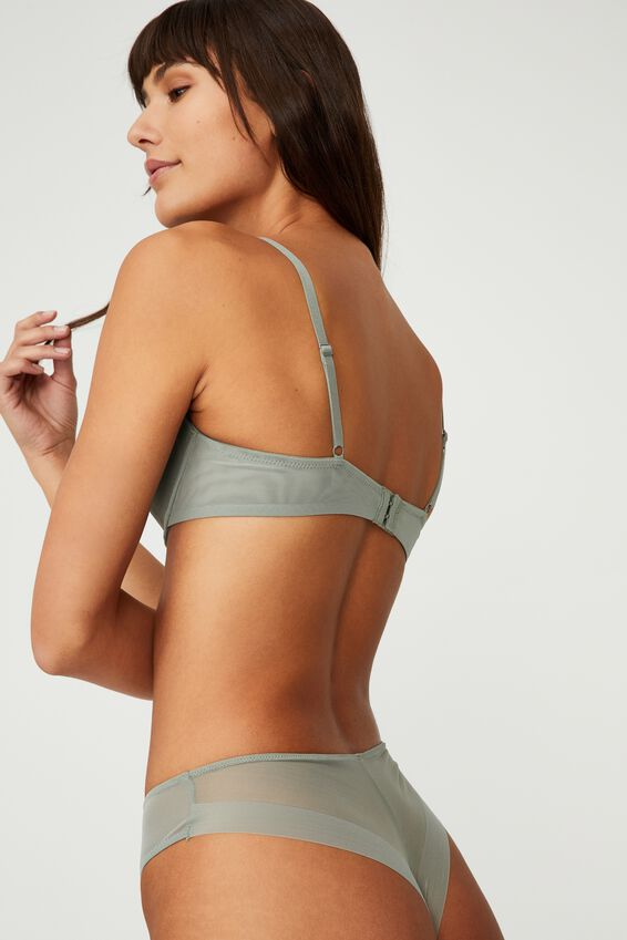 We Just Mesh Contour Bra, DESERT SAGE