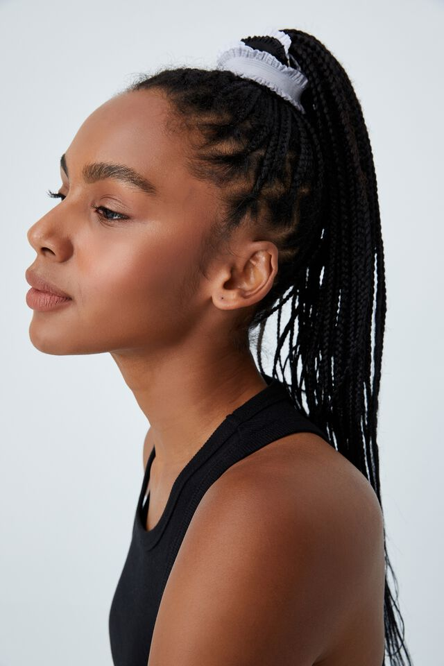 3Pk Elastic Frill Headband, BLACK MULTI