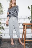 Supersoft Cropped Slim Fit Pant, GREY MARLE