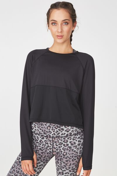 Training Long Sleeve Top, BLACK