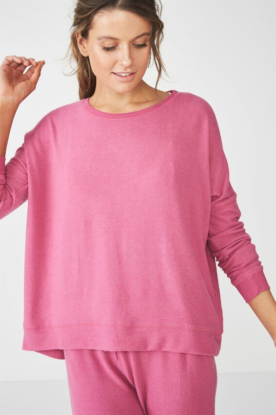 Super Soft  Lounge Top, VERY BERRY