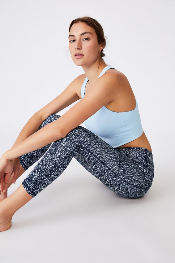 Love You A Latte 7/8 Active Tight, SPLATTER TEXTURE NAVY