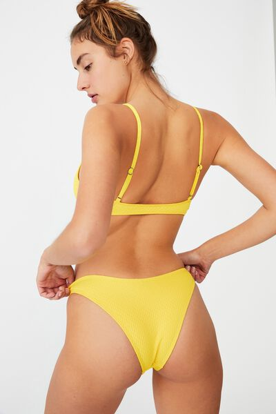 Refined High Side Brazilian Bikini Bottom Renewed, YELLOW BURST RENEWED