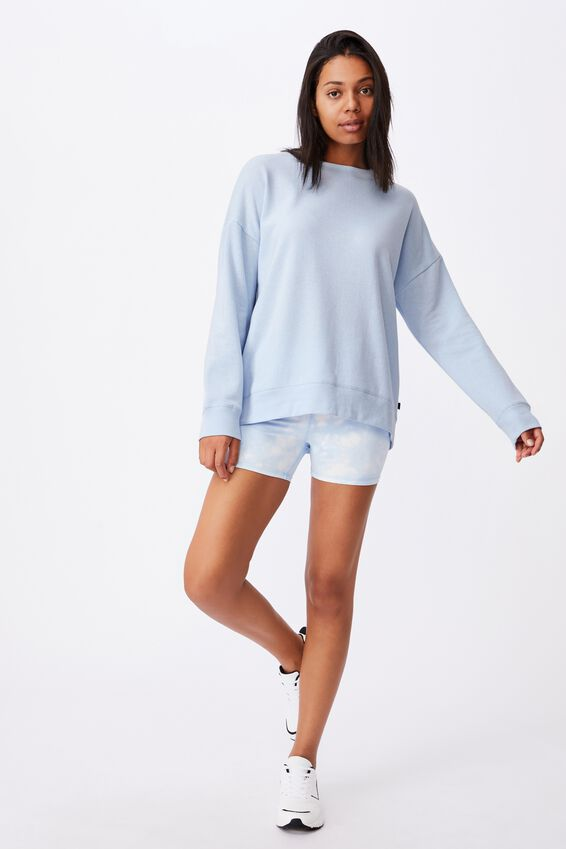 Lifestyle Long Sleeve Crew Top, BABY BLUE